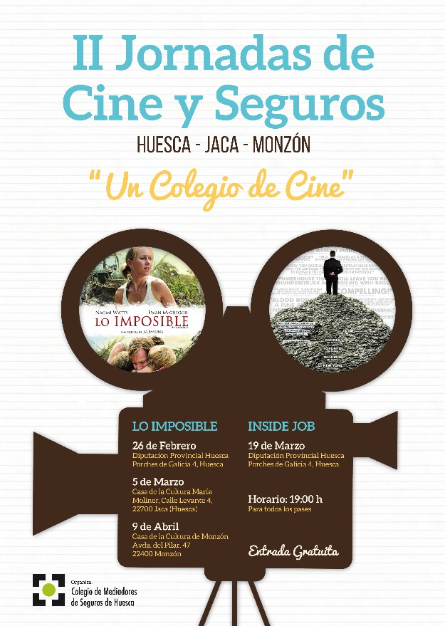 II jornadas de cine y seguros en Huesca