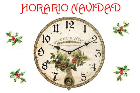 Horarios especiales NAVIDAD 2015
